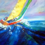 RIDING THE WAVE 36in. x 36in. acrylics on canvas $1275 SOLD
