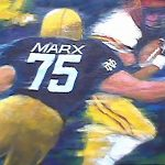 TACKLED FOR A LOSS 24in.x36in. acrylics on canvas SOLD