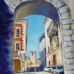 Sunny Alvito, Italy 36x24 inches acrylics on canvas NOT FOR SALE