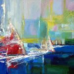 SAILING ABSTRACTION 36in.X 60in. acrylics on canvas $3000 SOLD