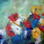 FLOWER BLOOM 30in.x40in. acrylics on canvas $850