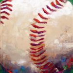 Baseball (18inch x 36inch acrylic on canvas) Not for sale