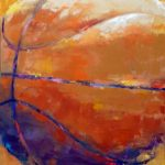 Basketball (18inch x 36inch acrylic on canvas) Not for sale