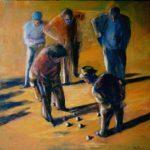 Bocce (36inch x 36inch acrylic on canvas) $2000