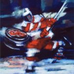 The Slapshot (60inch x 48inch oil on canvas) $2000