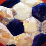 Soccer Ball (18inch x 36inch acrylic on canvas) Not for sale
