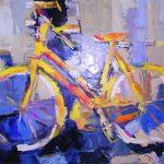 Yellow Bike (24inch x 30inch acrylic on canvas) SOLD