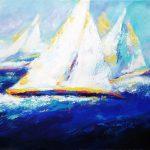 Sailboat Regatta (24inch x 36inch acrylic on canvas) $950 SOLD