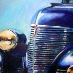 1939 Chevy (40 inch x 30 inch acrylic on canvas). 1,600.