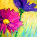 Daisies (22 inch x 28 inch acrylic on canvas). SOLD