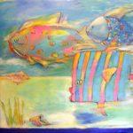 Fish (30 inch x 40 inch acrylic on canvas), $950