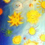 Suns (40 inch x 30 inch acrylic on canvas), $800