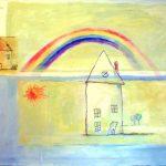 Rainbow (24 inch x 36 inch acrylic on canvas), $700