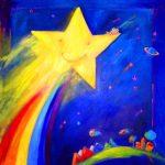 STAR FLYER 36 inch x 36 inch acrylic on canvas $800