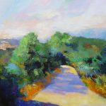 country road to Alvito 24x30 inches acrylics on canvas NOT FOR SALE