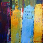 THE CITY 8in. x 10in. acrylics on wood canvas SOLD