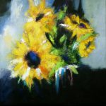 SUNFLOWERS 30in.x30in. acrylics on canvas $1000