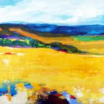 GOLDEN FIELDS 36in.x48in. acrylics on canvas $2300 SOLD