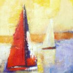 SAILING ALONG 30in.x20in. acrylics $900