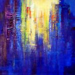 CITY SUNRISE 36in.x36in acrylics on canvas $1500 SOLD