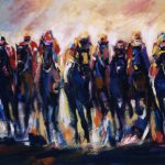 Start of the Race (24 inchx36 inch acrylics on canvas) $900 SOLD
