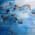 Horse Race (36inchx48inch) acrylics on canvas $1200 SOLD
