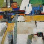 FARMLAND ABSTRACT 30in.x40in. acrylics on canvas $1100 SOLD