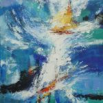 SAILING STORM 36in.x24in. acrylics on canvas $1000