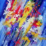 FLOWER EXPLOSION 30inc.x24inc. acrylics on canvas $855 SOLD
