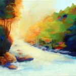 AUTUMN RIVER 30in.x40inc. acrylics on canvas $2500 SOLD