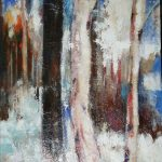 WINTER WOODS 40in.x 30in. acrylics on canvas $2000 SOLD