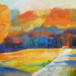 HUES OF AUTUMN 30in.x40in. acrylics on wood panel $2500