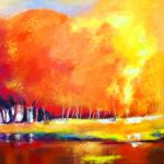 FIERY AUTUMN 24in. x36in. acrylic on canvas $850 SOLD