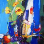 WINE AND FLOWERS 30in. x20in. acrylic on canvas $650 SOLD