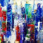 THE BIG CITY 24in. x36in. acrylic on masonite $900