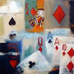 POKER 24in.x24in. acrylics on canvas $500 SOLD