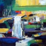 ABSTRACT LANDSCAPE 36in.x36in. acrylics on canvas $1800 SOLD